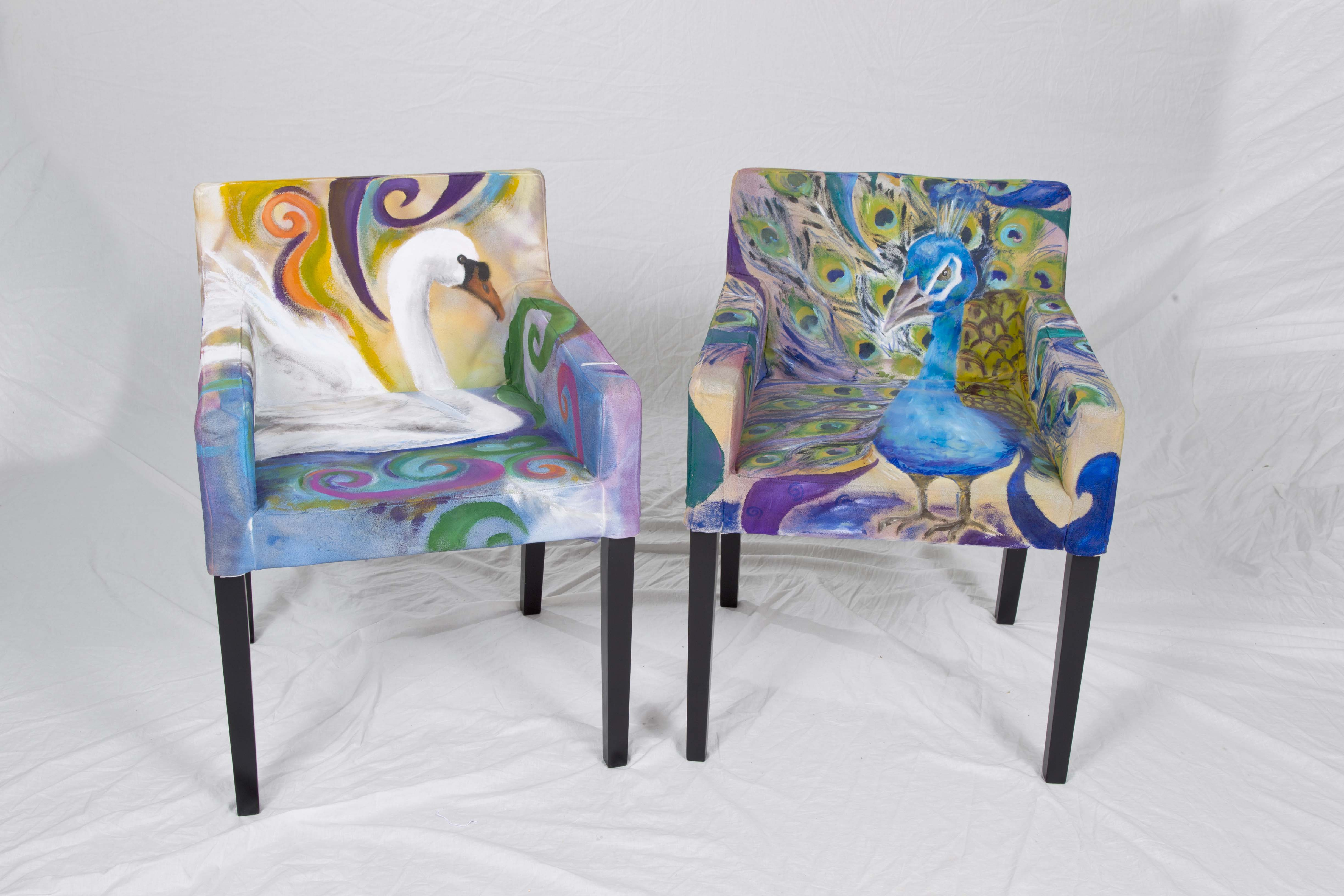 Painted peacock chair - For